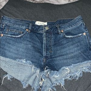 """Free People """"We the free"""" Jean shorts"""